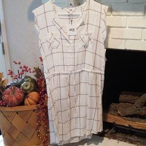Short sleeve plaid dress